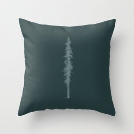 Love in the forest - green Throw Pillow