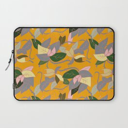 Floral and thorn pattern Laptop Sleeve