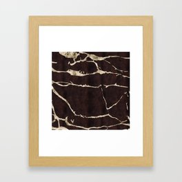 Russet Suede Framed Art Print