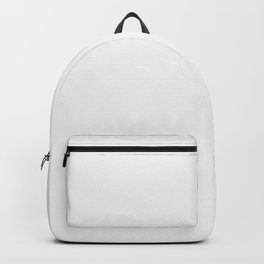 Grey White Solid - Plain White with a Hint of Grey Backpack
