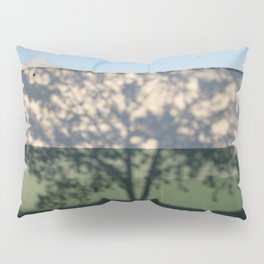 Shadow Tree on an industrial building Pillow Sham