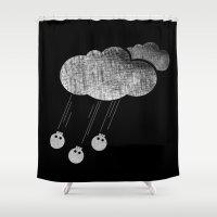 acid Shower Curtains featuring acid rain by sustici