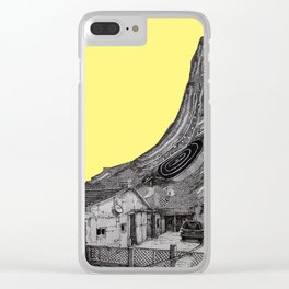 yellow house Clear iPhone Case