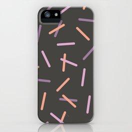 Pastel Sprinkles - Dark iPhone Case