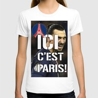 zlatan T-shirts featuring Ici c'est Paris! colors urban fashion culture Jacob's 1968 Paris Agency for Zlatan psg supporters by Jacob's 1968