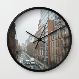 Cold New York Morning Wall Clock