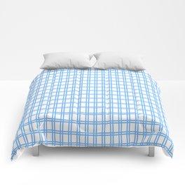 Quadri blue Comforters
