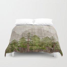 Mountain Range Woodland Forest Duvet Cover