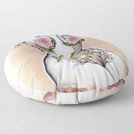 Peri shroom torso in color Floor Pillow