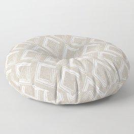 Modern Farm House Diamond Abstract Beige Floor Pillow