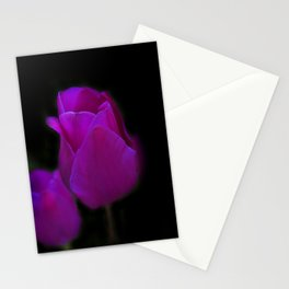 blossoms on black background -01- Stationery Cards