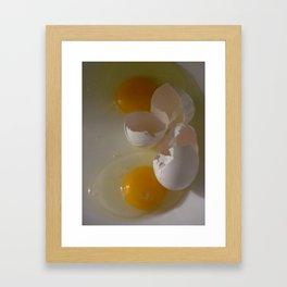Two Eggs For Me Framed Art Print