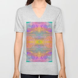 Prisms Play of Light 2 Mandala Unisex V-Neck