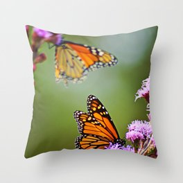 Butterfly Royalty Throw Pillow