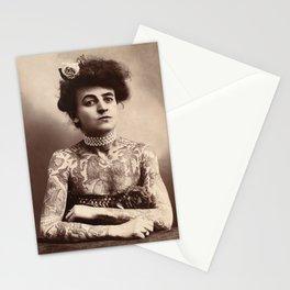 Maud Stevens Wagner Original 1907 Tattooed Lady Stationery Cards