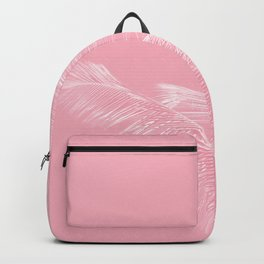 Millennial Pink illumination of Heart White Tropical Palm Hawaii Backpack