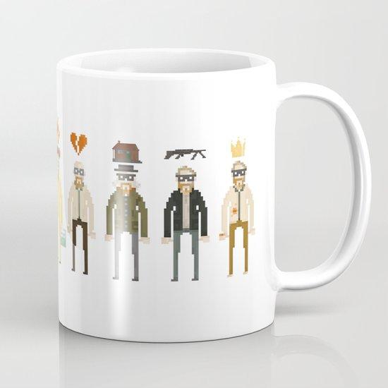 Walter White Pixelart Transformation- Breaking Bad Mug