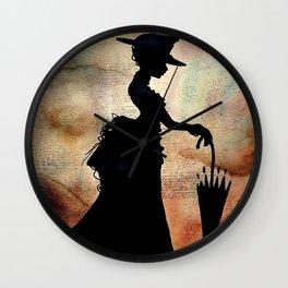 Victorian Damsel Wall Clock