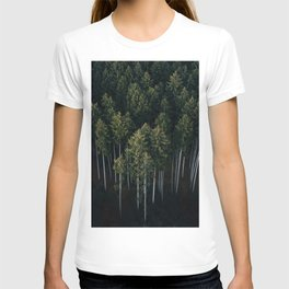 Aerial Photograph of a pine forest in Germany - Landscape Photography T-shirt