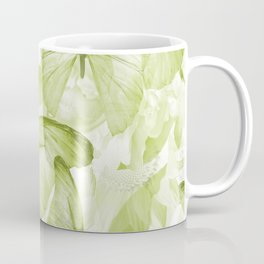 Butterflies And Flowers Green Illustration On White #decor #society6 #buyart Coffee Mug