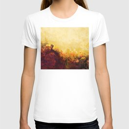 LOVELY FLOWERS ARE KISSING A YELLOW FIELD T-shirt