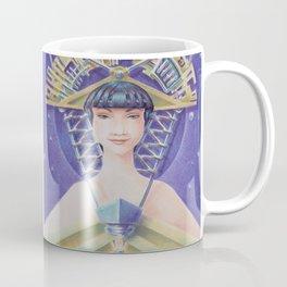 """""""Portrait with golden fan hat"""" Notebook Coffee Mug"""