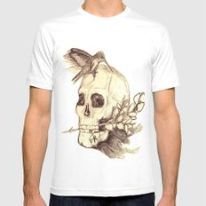 flying away with the time MEDIUM White Mens Fitted Tee