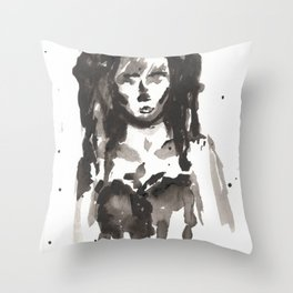 Abused. Ruined. Throw Pillow
