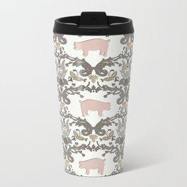 pig damask Metal Travel Mug