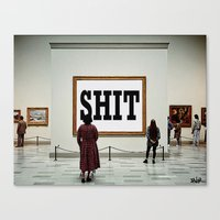 shit Canvas Prints featuring SHIT by LouiJoverArt