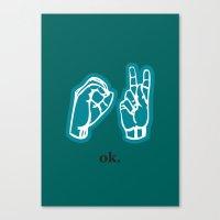 kim sy ok Canvas Prints featuring ok by Chloe PurR