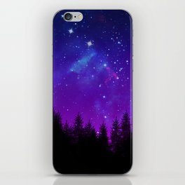 Galaxy Over the Forest at Night iPhone Skin