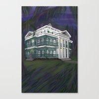 haunted mansion Canvas Prints featuring The Haunted Mansion by Nissa Taylor