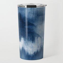 Blue watercolor brush strokes Travel Mug