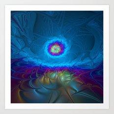 Fantasy, Abstract Fractals Art Art Print