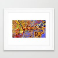 chicago Framed Art Prints featuring chicago by donphil