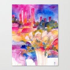 San Gimignano full bloom Canvas Print