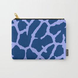 Blue Giraffe Print Carry-All Pouch