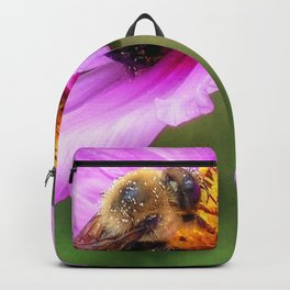Bumble Bee on Pink Cosmos Backpack