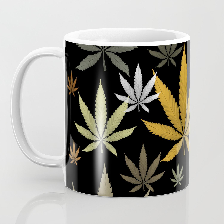 Mug Cannabis Weed Marijuana Leaves Pot Coffee 7I6yYfgvb