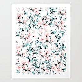 Flowers pattern 1 Art Print