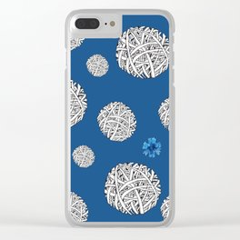 balls and cornflowers Clear iPhone Case