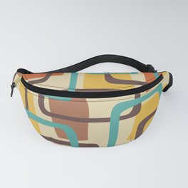 Mid Century Modern Overlapping Squares Pattern 126 Fanny Pack