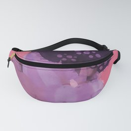Autumn Abstract Watercolor Fanny Pack