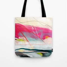 abstract landscape with pink sky over white cloud mountain Tote Bag