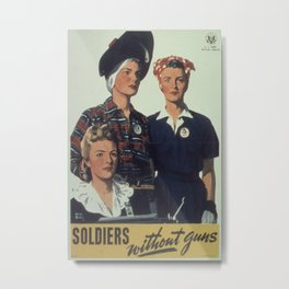 Vintage poster - Soldiers without guns Metal Print