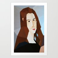 Retrato abstracto Art Print