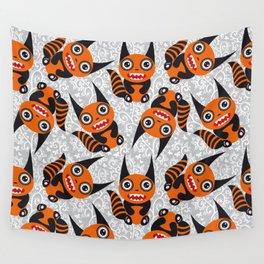 Funny orange monster Wall Tapestry