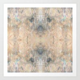 Glitch Vintage Rug Abstract Art Print