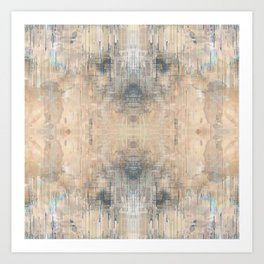 Glitch Vintage Rug Abstract Art Print